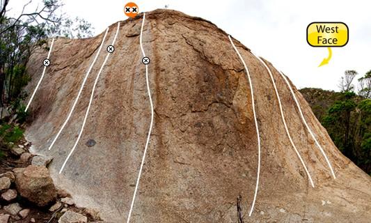 ?Dunny Door 14 & 14 ?Dunny Door 12m Trad climb in The You Yangs | theCrag